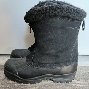 North Point Suede Sherpa & Rubber Snow Boots 7